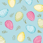Duni pastel eggs voorkant