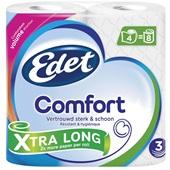 Edet toiletpapier comfort extra long 3 laags voorkant