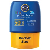 Nivea Sun kids zonnebrand pocket size SPF 50 voorkant