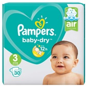 Pampers baby dry luiers carry pack maat 3  voorkant