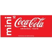 Coca Cola regular blik 12x15 cl voorkant