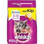 Whiskas Junior Kattenvoer Brokken met kip voorkant