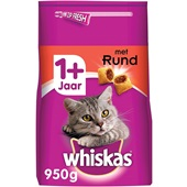 Whiskas Adult Kattenvoer Brokken Met Rund voorkant