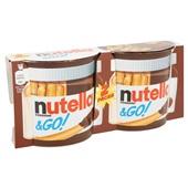 Nutella Chocolade Hazelnootpasta Met Crispy Brooddippers voorkant