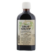 Oma's Dropsiroop 150 mililiter voorkant