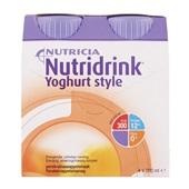 Yoghurtstyle perzik 4x200 ml voorkant