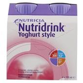 Nutricia Yoghurtstyle framboos 4x200 ml voorkant