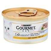 Gourmet Diamant Kattenvoer Reepjes Kip In Saus achterkant