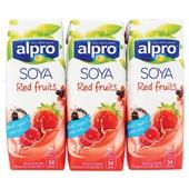 Alpro Soya Drink Rode Vrucht Mini voorkant