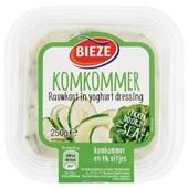 Bieze rauwkostsalade komkommer voorkant