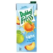 DubbelFrisss light vruchtendrank appel perzik voorkant