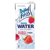 DubbelFrisss bronwater vruchtendrank aardbei framboos voorkant