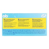 o.b. Pro-Comfort Tampons Normal achterkant