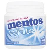 Mentos Kauwgom Gum White Sweet Mint, Pot 70 Gums voorkant