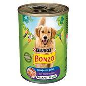 Bonzo Hondenvoer Met Rund En Hart In Gelei voorkant