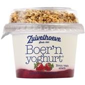 Zuivelhoeve Yoghurt Aardbei/Muesli voorkant