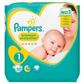 Pampers premium protection luiers newborn carry pack voorkant