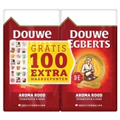 Douwe Egberts snelfilterkoffie aroma rood dubbelpack voorkant