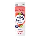 Melkunie Milk & Fruit Aardbei kers voorkant