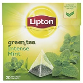 Lipton Thee Green Intense Mint voorkant