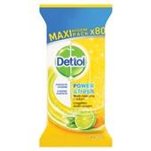 Dettol Citrus doekjes 80 stuks voorkant