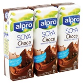 Alpro Soyadrink Choco 3-Pack achterkant