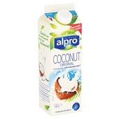 Alpro kokosnootdrink  original fresh achterkant