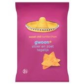 Gwoon tortilla chips sweet chili voorkant