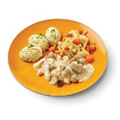Culivers (76) vol au vent met zomerse groentjes en aardappelpuree met bieslook voorkant