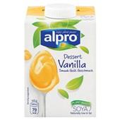 Alpro dessert soya  vanille voorkant