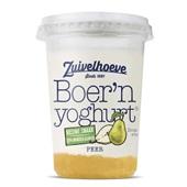Zuivelhoeve boer'n yoghurt peer voorkant
