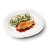 Culivers (101) kipfilet in uienjus met andijviestamppot zoutarm voorkant