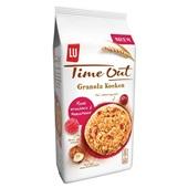 Lu Time Out granola rode vruchten hazelnoot achterkant