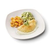 Culivers (103) omelet in dragonsaus met gebakken krieltjes en tuinbonen met ui en tijm zoutarm voorkant