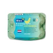 Bio+ biologische eieren 6 stuks voorkant