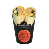The Bread Office wrap spicy chicken voorkant