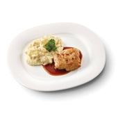 Culivers (34) kippendijrolletje met specerijenjus en hete bliksem voorkant
