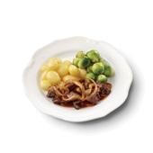 Culivers (3) Limburgse stoofschotel, spruitjes en gekookte krieltjes gluten- en lactosevrij voorkant