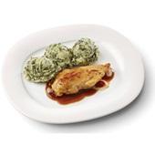 Culivers (7) kipfilet in uienjus met andijviestamppot gluten- en lactosevrij voorkant