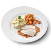 Culivers (11) pangafilet in Provencaalse saus met Parijse worteltjes en aardappelpuree gluten- en lactosevrij voorkant