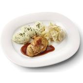 Culivers kipfilet met kippenjus, gestoofde witlof naturel en aardappelpuree met tuinkruiden gluten- en lactosevrij voorkant