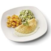 Culivers omelet in dragonsaus met gebakken krieltjes en tuinbonen met ui en tijm gluten- en lactosevrij, vegetarisch voorkant