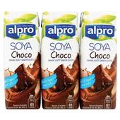 Alpro Soyadrink Choco 3-Pack voorkant