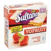 Sultana Yofruit Aardbei achterkant
