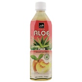 Tropical Aloe Vera Drink Peach voorkant