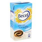 Becel Koffiemelk Pak achterkant