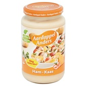 Campbell's Aardappelanders Hamkaas achterkant
