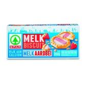 Spar Melkbiscuits Melk-Aardbei voorkant