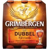 Grimbergen Dubbel Speciaalbier Fles 6X30 Cl voorkant