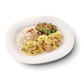 Culivers (78) kip korma, sperziebonen met paprika, amandel en witte rijs voorkant